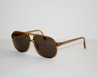 Vintage Sunglasses True 1980's Vintage TERRI BROGAN mod 8673 Aviator Double Bridge Optyl NOS