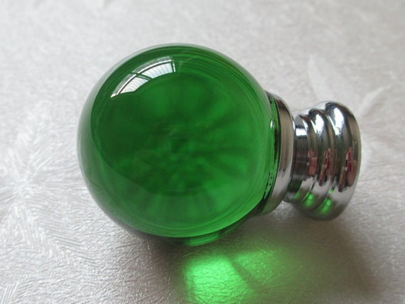 Green Glass Cabinet Knobs And Drawer Pulls: Green Glass Knobs Crystal Knob Green Drawer Knobs Dresser Knob