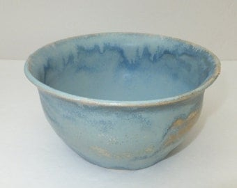Blue Crystalline Ceramic Bowl