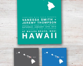 Destination Wedding Invitation (Any country, state or province)