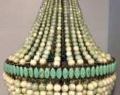 Balance and shipping listing for Kevin- Chandelier-Lighting- 2 Empire Chandeliers-Glass and magnesite beads