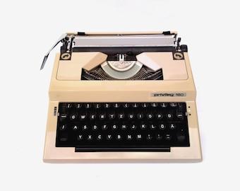 Typewriter Privileg 160 vintage manual typewriter Germany beige typewriter mid century typewrite working copywiter office decor Christmas