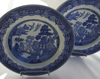 Johnson Bros Blue Willow Cereal Bowls,England