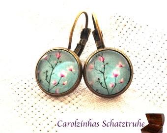 Almond Blossom  - earrings blue