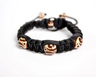 Bracelet, gothic bracelet, mens accessories, leather bracelets, amethyst bracelet, females bracelets, unique bracelet, leather cuff, leathe