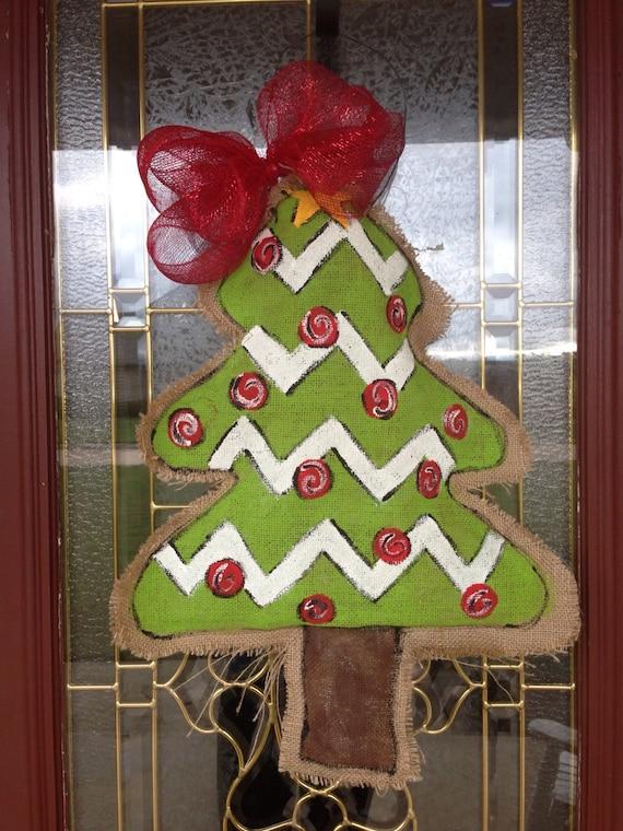 Christmas Burlap Door Hangers