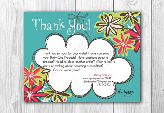 il_570xN.600919419_2iqf items similar to personalized thank you cards made for thirty one,Thirty One Invitations