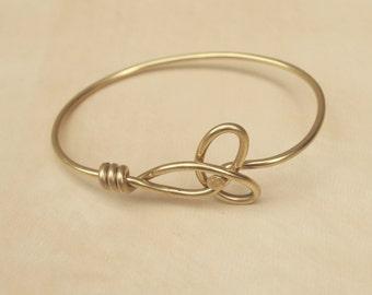 Gold Trinity Bicycle Spoke Bracelet