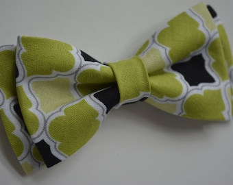 Green and black Bow Tie,green bow tie for boys