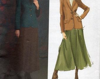 Vogue ANNE KLEIN Designer Pattern 2916 JACKET & Skirt Misses Sizes 8 10 12 14
