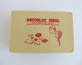 Ascobloc Ideal, Made in France, Toys, Puzzles, Geometric Puzzles, Childrens Toys, Childrens Puzzles