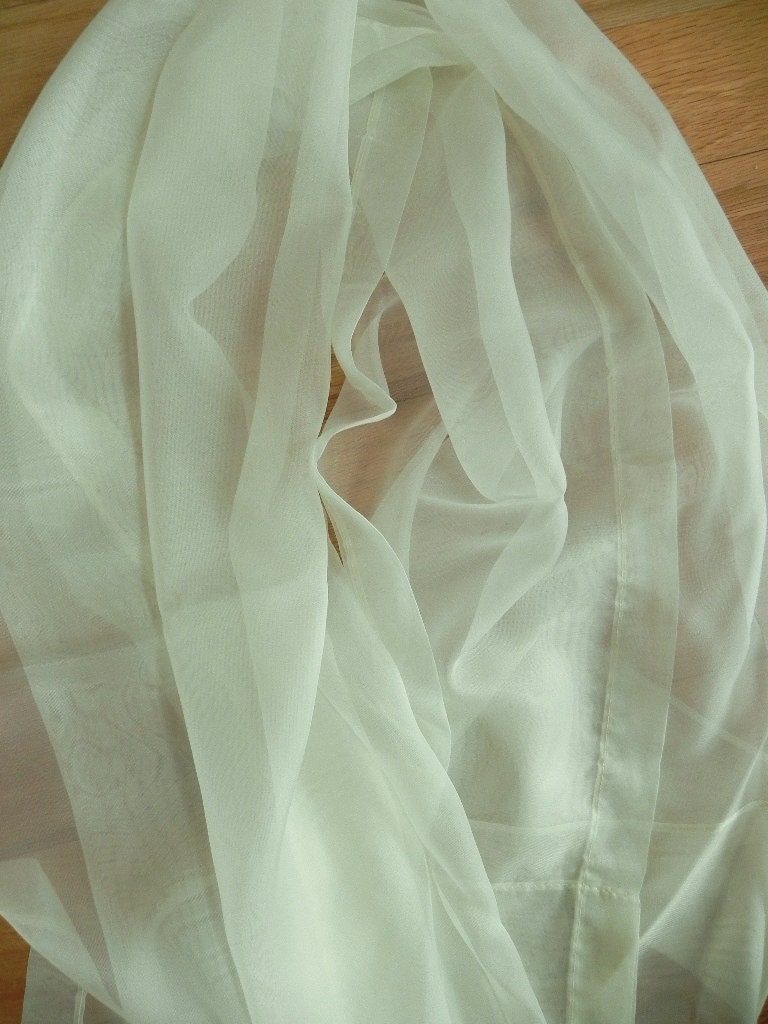6 Ready To Hang Hand Made Sheer Voile Mint Green Curtain