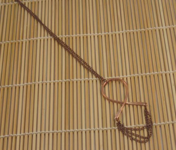 Copper Cross Chain Pendant Necklace