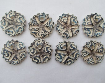 Starfish Pendants Ceramic (Set of 8)