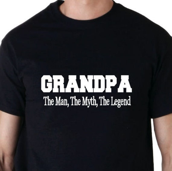 Grandpa the man the myth the legend t shirt like this item sciox Gallery