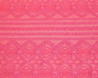 243bf0d84c838c Coral Lace Fabric by the yard Stretchy Lace Fabric Knit Lace Fabric Dresses  Wedding Decoration - 1 Yard Style 6031-LACE