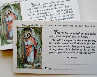 Vintage pastor calling cards. Illustrated. Customizable. Set of 25. Religious stationery. Clergy. Christian art. Ordination gift.