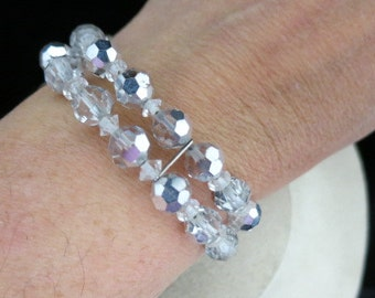 Vintage Aurora Borialis Wrap Bracelet