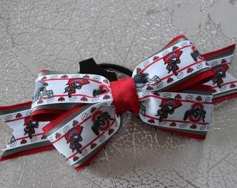Ohio State Buckeyes hair bow