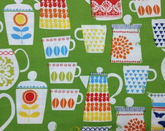 1 yard 100% cotton fabric by Michael Miller in Put a Lid On It pattern