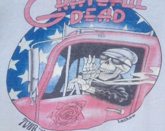 Grateful Dead T Shirt  ...1976  Old Skool Design ... Lot Shirt