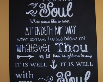 It Is Well With My Soul Wall Art Decal Sticker Wall