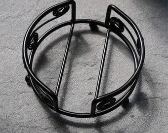 Round Wrought Iron Coaster Holder