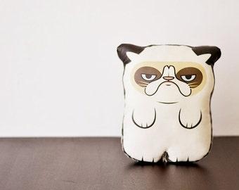 A Grumpy Cat  - Pillow - Plush