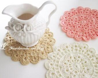 3 Crochet Doilies,crochet lace doilies