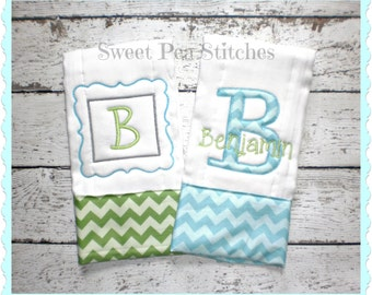 Personalized Applique Burp Cloth