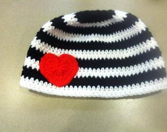 Valentines Beanie, valentines hat, heart hat, heart beanie, valentines heart, valentines theme
