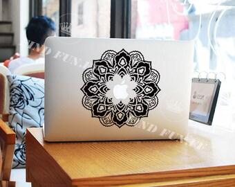Flower Decal Macbook Air Sticker Macbook Air Decal Macbook Pro Decal 1036-团花