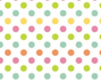 1/2 yard Medium Multi dots from Riley Blake