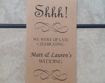 Door Hanger for Wedding Hotel Welcome Bag