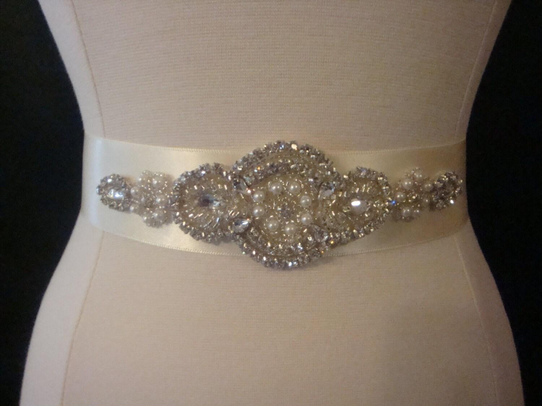 Rhinestone Bridal Sash Wedding Dress Belt Crystal Sash