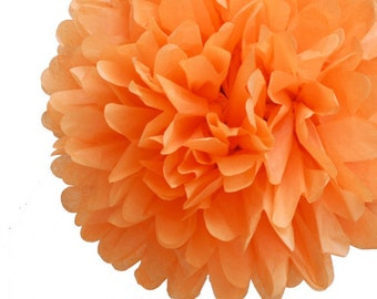Orange Tissue Pom Pom 4 inch
