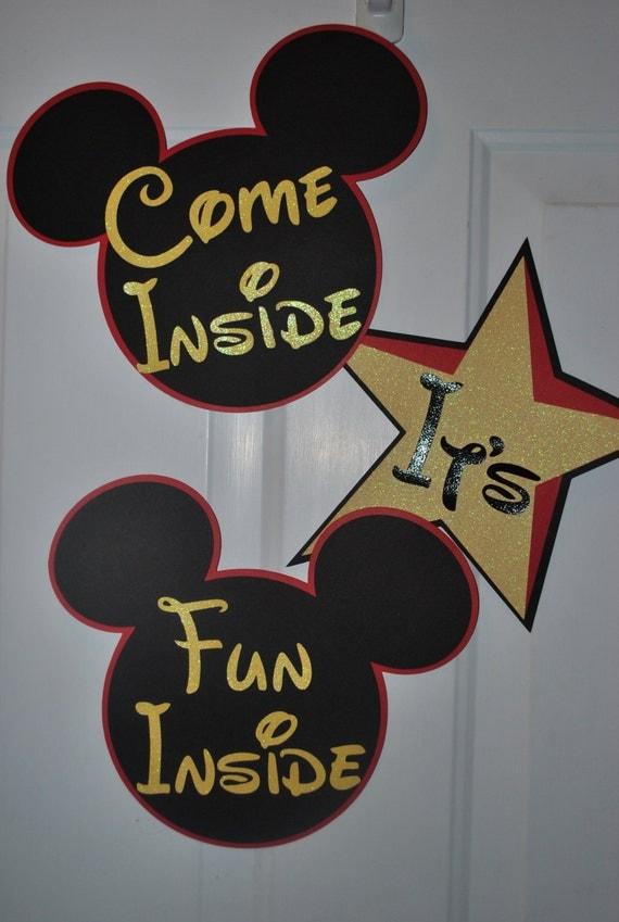 Mickey Mouse Decorations Birthday Nursery by SplitCoastCreations
