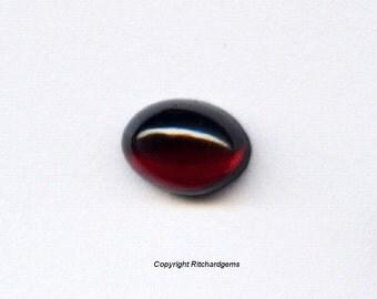 Semi Precious Natural Almandine Garnet Cabochons 8X6 mm For One
