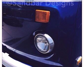 4 x 4 photo card-Electric blue VW bus