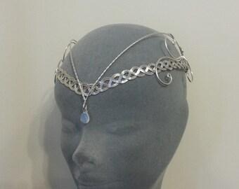 Medieval Renaissance circlet Moonstone Arwen elven headpiece
