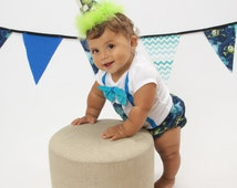 Monsters Inc cake smash outfit with party hat, Monsters University birthday shirt, 1st 2nd 3rd  birthday, shorts or diaper cover