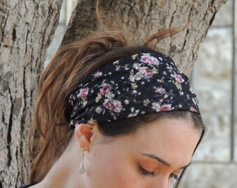 Special Floral Black Lace  headband-bandana(Tichel / Head Covering / Scarf)