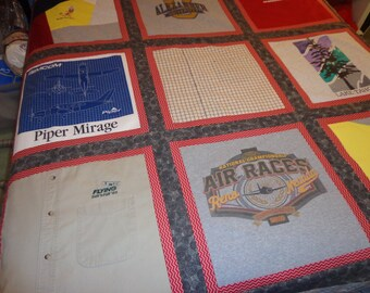 Custom made Lap size Memory Quilt.