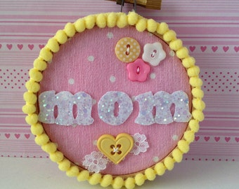 Tiny Embroidery Hoop Mothers Day Personalized
