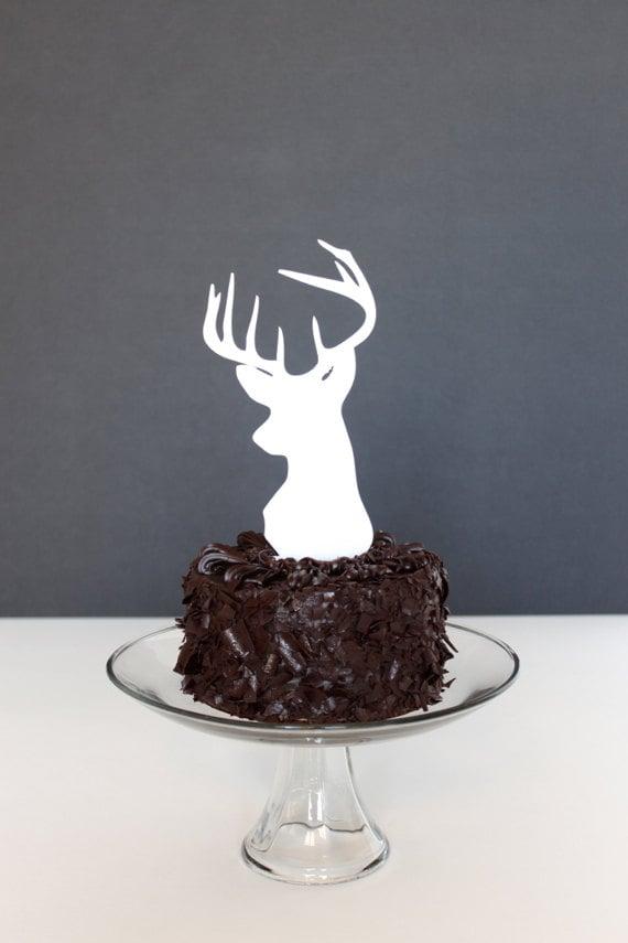 Deer Head Cake Topper