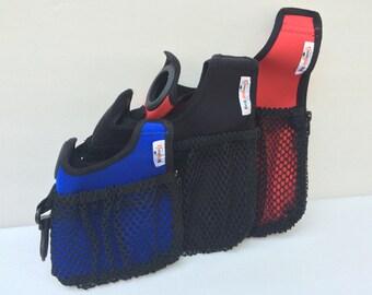 Large Dog walker's carry-all bag. Large DOOPLE BAG--keeps items at your fingertips, dog waste out of sight.