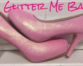 Baby PINK glitter high heels