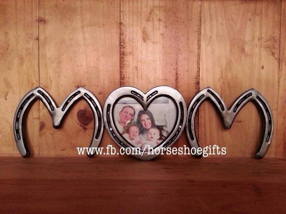 Horseshoe Picture Frame Wall Hanging Mom