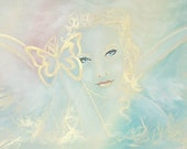 """Limited angel art poster """"angel"""", modern contemporary angel painting, artwork, print, glossy photo,"""