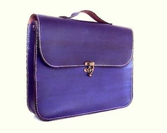 Handmade Laptop Bag ,Purple Leather ,Briefcase ,Messenger Bag ,Shoulder Bag ,Satchel ,for men ,for women ,Christmas ,Made to Order